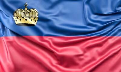 Flag of Liechtenstein 19715